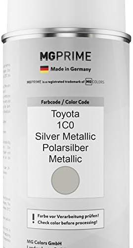 Mg Prime Autolack Sprühdosen Set Für Toyota 1c0 Silver Metallic Polarsilber Metallic Basislack Klarlack Spraydose 400ml Auto