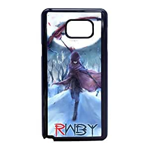 Special Design Cases Samsung Galaxy Note 5 Cell Phone Case Black ruby rose rwby anime Koynjw Durable Rubber Cover