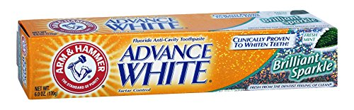 Arm & Hammer Advance White Brilliant Sparkle Toothpaste 6 oz (Pack of 12)