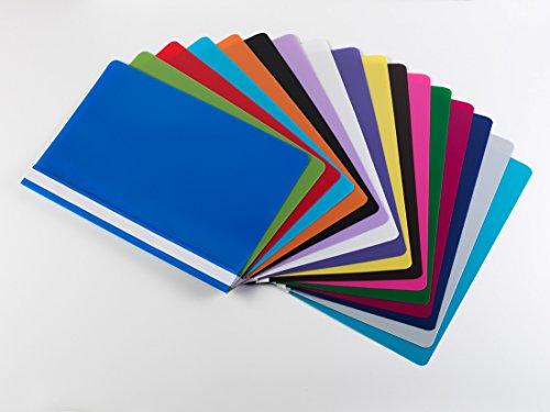 17 Schnellhefter DIN A4 / PP / extra stark / 17 verschiedene Farben