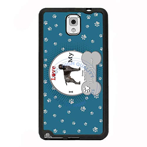 (BRGiftShop Personalize Your Own I Love My Dog German Shorthaired Pointer Rubber Phone Case For Samsung Galaxy J3 2018)
