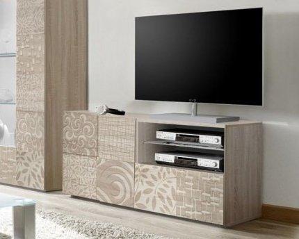 mobile porta tv 1 anta 1 cassetto moderno ROVERE chiaro anta con ...