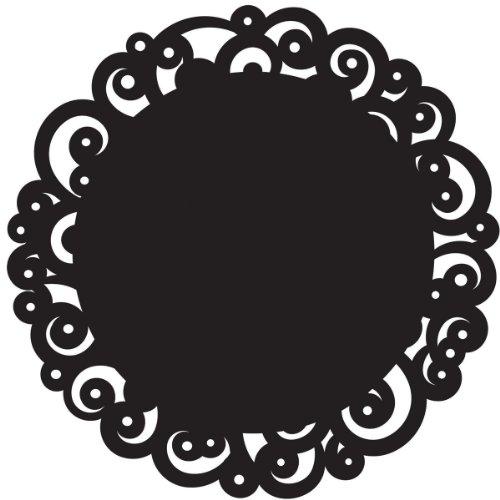 Wilton Black Swirl 12-Inch Cake Doilies, 6 Count