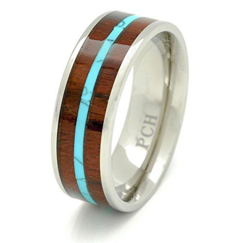 Titanium Hawaiian Turquoise Inlay Wedding product image