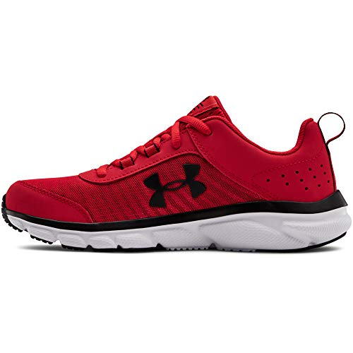 Under Armour Kids' Grade School Assert 8 Sneaker, Red (601)/White, 3.5