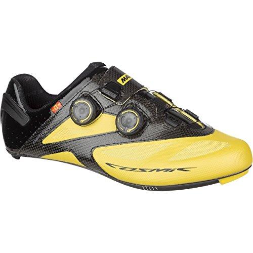 Mavic Cosmic Ultimate II Shoes - Wide - Men's Yellow Mavic/Black, US 10.5/UK (Mavic Cosmic Carbone Ultimate)