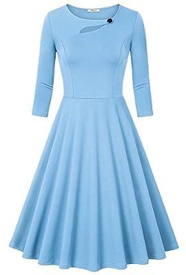 Bebonnie Women's 3/4 Sleeve Elegant Chic Bodycon Formal Dress