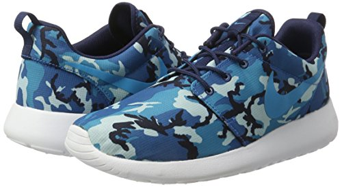 Sneaker Nike DARK BLUE Low Rosherun NAVY LEGEND weiß CAMO 511881 blau ELECTRIC BLUE weiß Herren Top MID 7r4Xrfqw