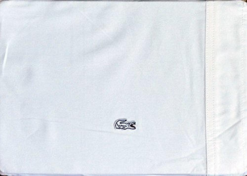 LaCoste Bedding 4pc Queen Brushed Twill Sheet Set White - Brushed Twill Sheet Set