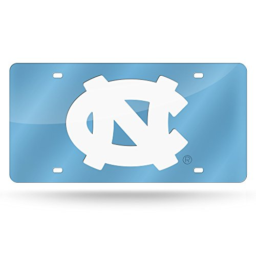 NCAA North Carolina Tar Heels Laser Inlaid Metal License Plate Tag ()