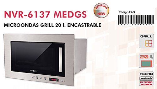 Microondas Encastrable Nevir NVR-6137 MEDGS 20L con grill ...
