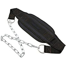 Hipiwe Weight Lifting Dip Belt with Steel Chain Havey Duty Pull Up Belt for Bodybuilding, Strength Training