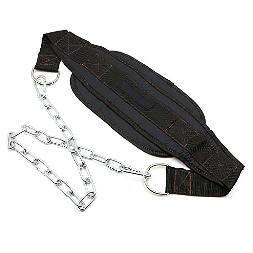 Hipiwe Weight Lifting Dip Belt with 34-Inch Steel Chain