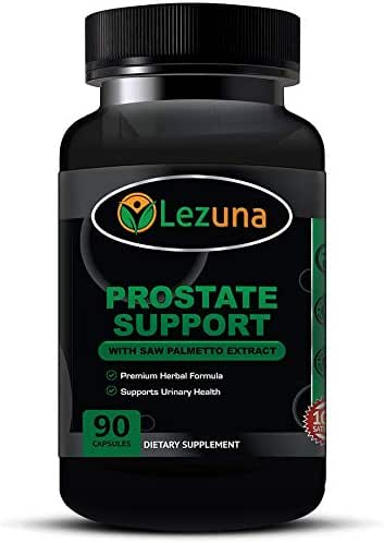 Lezuna Prostate Support with Saw Palmetto, Prostate Health, Urinary Health, DHT Blocker & More - 90 Capsules