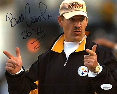 (Autographed Cowher Photo - 8x10 +COA SUPER BOWL XL - JSA Certified - Autographed NFL Photos)