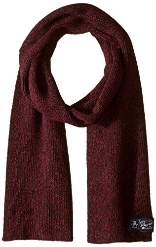 (Original Penguin Men's Two Tone Knit Scarf, biking red, OSFA)
