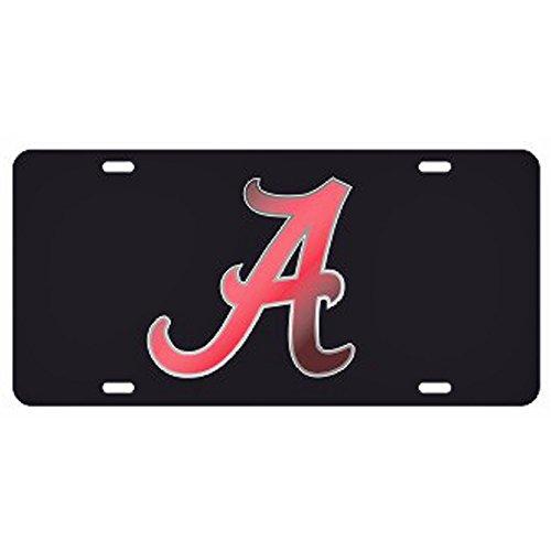 Tide Cut Laser Crimson Alabama - Alabama Crimson Tide Black Laser Cut License Plate