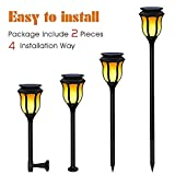 Balight Solar Lights Dancing Flames LED Waterproof Wireless Flickering Torches Lantern Outdoor for Garden Patio Yard Driveway Pathway Pool (2 Pack)