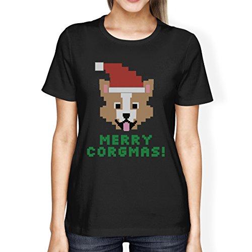 365 T One PrintingFrauen Kurzarm Size Corgi Shirt Corgmas Merry 6yIb7mgvfY