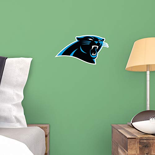 FATHEAD NFL Carolina Panthers - Logo Teammate- Officially Licensed Removable Wall Decal, Multicolor, Big, - Logo Panthers Wall