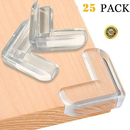 Corner Protectors 25 Pack Baby Proofing Corner Guards Safe Corner Cushion Baby Proof Edges Corner Bumpers for Tables Furniture with High Resistant Adhesive