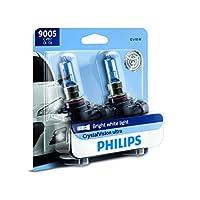 Philips 9005 CrystalVision Ultra Upgraded - Bombilla para faros, blanco brillante, paquete de 2