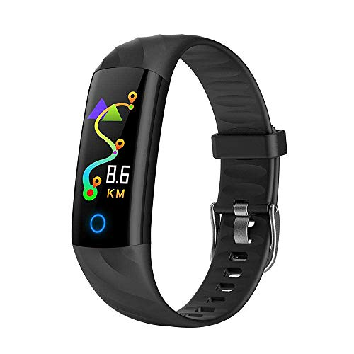 Vacio Fitness Bands Watch, Activity Tracker Wristband Heart Fitness Bracelet Blood Pressure Sleep Monitor Smart Watch for iPhone-Black