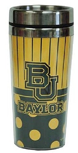 Game Day Outfitters NCAA Baylor University Travel Polka Dot Mug One Size Multicolor