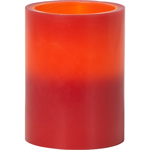 Precious Moments Red 4-Inch Tall Flameless Pillar Candle 171425 ()