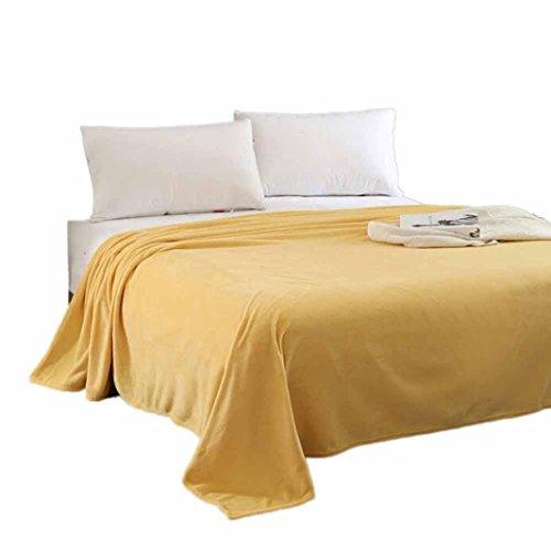 "Price comparison product image Luxury Flannel Velvet Plush Throw Blanket, Staron Super Soft Warm Solid Micro Plush Fleece Blanket Throw Rug Sofa Lightweight Bedding Quilt Play Blanket, 27.5x39.3"" (Yellow)"