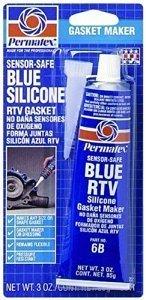 - Permatex 80022 3 Oz Sensor-Safe Blue RTV Silicone Gasket Maker