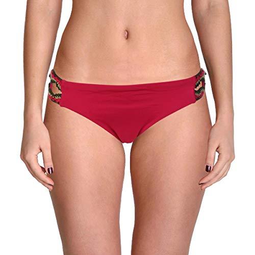 - Becca by Rebecca Virtue Women's Medina Tab Side Hipster Bottom Raspberry S