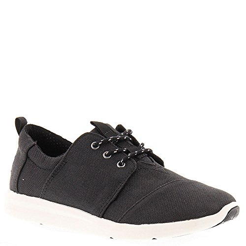 TOMS Women's Del Rey Sneaker (7 B(M) US, Black Poly Canvas) by TOMS