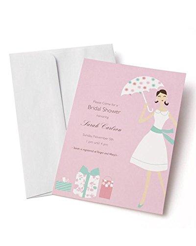 (Mara-Mi Bridal Shower Imprintable Invitation, 10-Count (46004) )