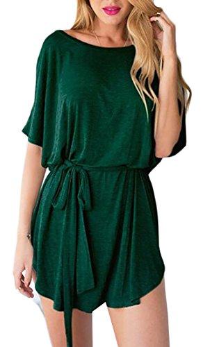 Turno Casuali Maniche A Delle Pipistrello Dress Allentato Shirt Donne Verde Morbido T Jaycargogo wSx6qU0w