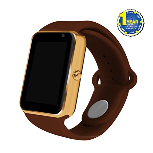 2017 Newest AIYIBEN Bluetooth Smart Watch with SIM Card Slot Smart Health Watch Independent Smart phone for Android IOS Smart watch. (Brown) by BAOSG