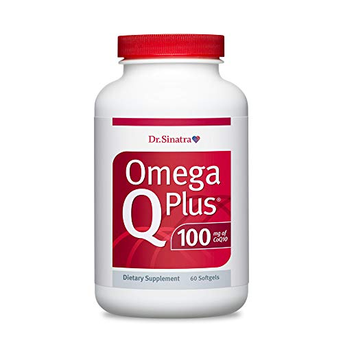 Dr. Sinatra's Omega Q Plus 100 – Omega-3 Supplement Delivers Everyday Heart Health Support with 100 mg of CoQ10 for Healthy Blood Flow, Blood Pressure, and Provides Antioxidant Power (60 softgels)