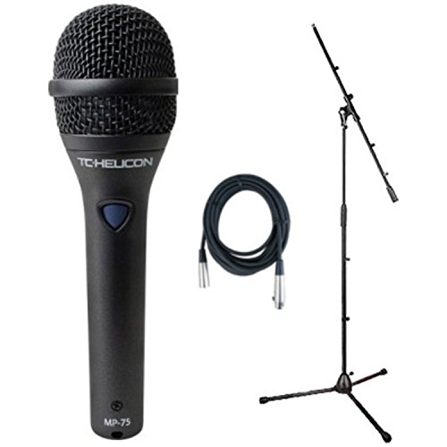 TC Helicon MP-75 Vocal Mic (with added Mic Control) Bundle w/20' XLR Mic Cable and Boom Stand by TC Electronic
