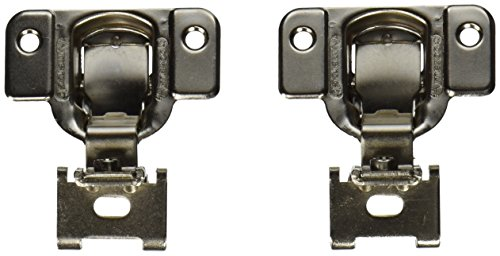 Amerock BP2811H1314 Matrix Concealed Hinge, 1-3/4in(45mm) Hole Pattern Hinge with 1/4in(6mm) Overlay - Nickel