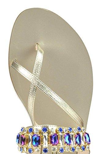 Cardiff Sandalias de Vestir Para Mujer Plateado Plata It - Marke Größe