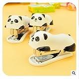 Autumn Water office supplier cartoon panda mini stapler staples Get Set papelaria grampeador grapadora mini stapler agrafeuse