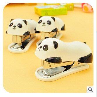 Autumn Water office supplier cartoon panda mini stapler staples Get Set papelaria grampeador grapadora mini stapler agrafeuse by Autumn Water