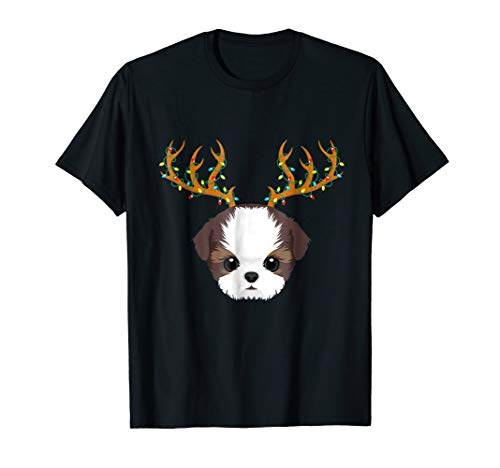 (Shih Tzu Christmas Lights My Christmas Pajama Shirt)