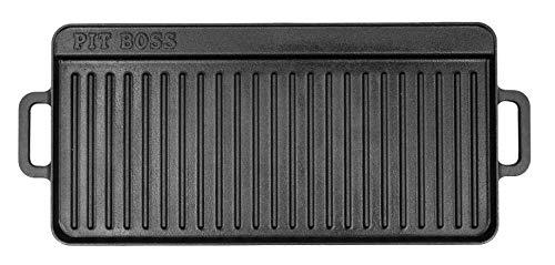 """14"""" x 28"""" Cast Iron Griddle, Black - Pit Boss 68008"""