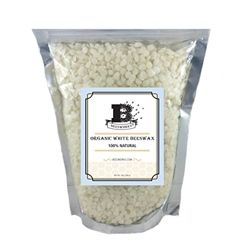 Beesworks® Organic White Beeswax Pellets - 14 oz - Tested and Certified 100% Organic