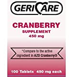 Cranberry Supplement Pills 100 Tablets 450 mg like AZO 450 mg each. Helps you Fight off Urinary Tract Infections For Sale