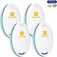 Yomitek Pest Control Ultrasonic Repeller for Mosquitoes, Insects, Spiders, Mices, Roaches, Bugs, Flies and More for Home Indoor - Non-Toxic Eco-Friendly, Human & Pet Safe