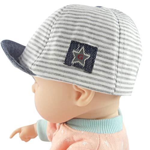 (Luonita Baby Boy Girl Baseball Cap Casual Cute Striped Sunhat Brim Sun Protection Eaves Infant Newborn Hat 0-1yr 0-1T)