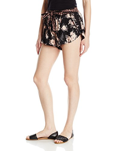 Angie-Womens-Floral-Printed-Short-with-Tie-Waist