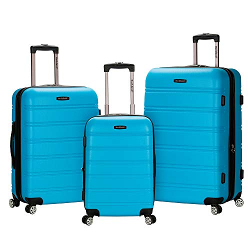 Rockland Melbourne 3 Pc Abs Luggage Set, Turquoise